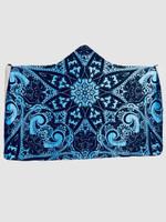 Blue Mandala Hooded Blanket