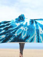 Blue Tie Dye Hooded Blanket