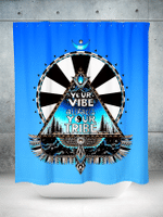 Blue Vibe Tribe Shower Curtain