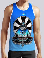 Blue Vibe Tribe Unisex Tank Top