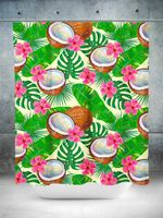 Coconut Vibes Shower Curtain