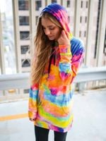 Color Storm Hooded Dress