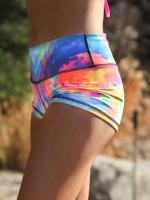 Color Storm Yoga Shorts