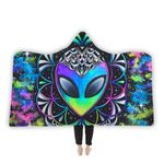 Conscious Cosmos Hooded Blanket