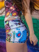 Cosmic Trip Yoga Shorts