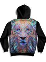 Crystal Lion Back Panel Unisex Hoodie