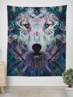 Crystal Wolf Tapestry