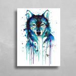 Dark Wolf HD Metal Panel Print Ready to Hang