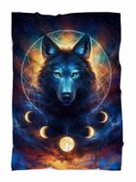 Dream Catcher Wolf Blanket