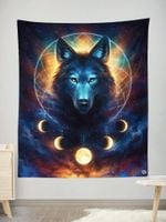 Dream Catcher Wolf Wall Tapestry