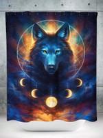 Dream Catcher Wolf Shower Curtain