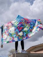 Electro Daisy Hooded Blanket