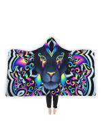 Electro Lion Hooded Blanket