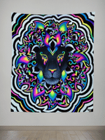 Electro Lion Tapestry