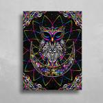 Electro Owl HD Metal Panel Print Ready to Hang