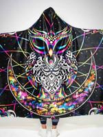Electro Owl Hooded Blanket