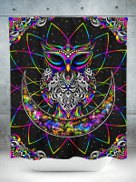 Electro Owl Shower Curtain