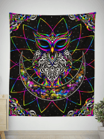 Electro Owl Tapestry