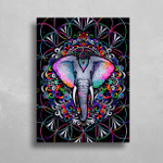 Electro-phant HD Metal Panel Print Ready to Hang