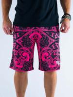 Electro Pink Mandala Shorts