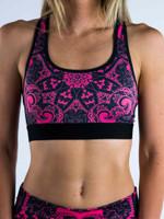Electro Pink Mandala Sports Bra