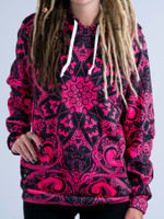 Electro Pink Mandala Unisex Hoodie