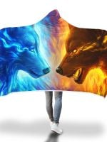 Fire and Ice Hooded Blanket
