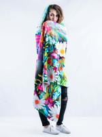 Flower Trip Hooded Blanket