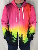 Forest Galaxy Unisex Zip Hoodie