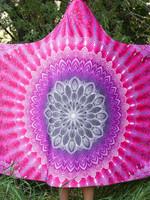 Fuchsia Mandala Hooded Blanket