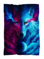 Galaxy Wolf Blanket