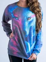 Galaxy Wolf Vintage Sweatshirt
