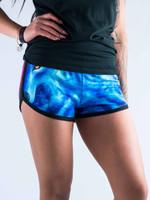Galaxy Wolf Women's Retro Shorts