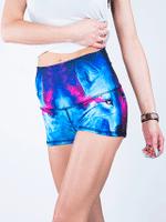 Galaxy Wolf Yoga Shorts