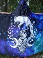 Galaxy Fox Hooded Blanket