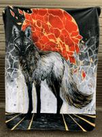 Gold Maned Wolf Blanket