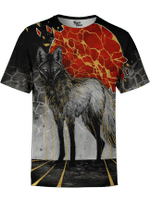 Gold Maned Wolf Unisex Shirt