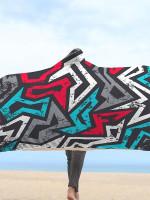 Graffiti Grunge Hooded Blanket