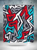 Graffiti Grunge Shower Curtain