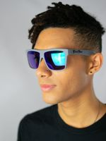 Gray – Polarized Blue Chrome Lensed Sunglasses