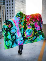 Holo Melt Hooded Blanket