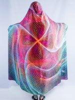 Hypnotic Vortex Hooded Blanket