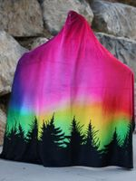 Kids Forest Galaxy Hooded Blanket