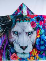 Kids King of Lions Hooded Blanket