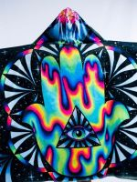 Kids Trippy Hamsa Hooded Blanket
