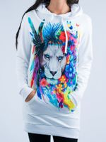 King of Lions Hooded Dress