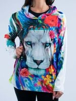 King of Lions Unisex Hooded Long Sleeve Shirt