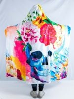 Life and Death Hooded Blanket