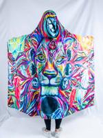 Lunar Lion Hooded Blanket