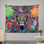 Lunar Lion Wall Tapestry